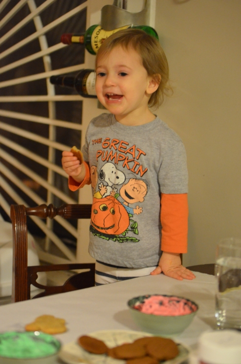 Why are you wearing a Halloween shirt for this event my dear? Mommy brain.