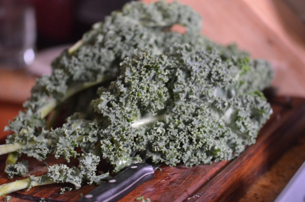Kale is a detox staple--amazing roasted with oil, salt, and a touch of raw sugar..